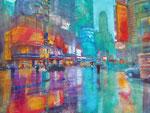 New York colours, Aquarell 30x40 cm, Kursarb. B. Klimmer 170 Euro ohne Rahmen
