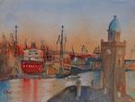 Hamburger Hafen, 30x40 cm 110 Euro