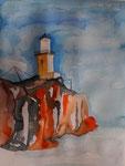 Leuchtturm am Golf von Korinth I, 31x41 cm  70 Euro unger.