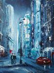 in the City I, Acryl auf Malplatte 30x40 cm, 140 Euro in weissem Rahmen Rahmen