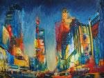 times Square, New York, Kollage Acryl 60x80 cm auf Keilrahmen 250 Euro