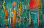 night in the city, 30x40 cm, 140 Euro ohne Rahmen