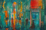 night in the city, 30x40 cm, 140 Euro ohne Rahmen