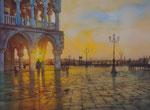 Venedig, Dogenpalast, Aquarell 30x40 cm, Kursarb. B. Klimmer, 170 Euro ohne Rahmen