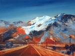 gehts hinterm Horizont weiter, Acryl auf Keilr. 60x80 cm, Kursarb. B. Klimmer 270 Euro