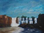 Wasserfall, Acryl 60x80 cm, Kursarb. B. KLimmer 180 Euro