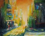 let´s dance, Acryl Collage auf Keilrahmen, 80x100 cm, vergeben
