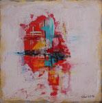 Summertime II, Acryl auf Keilrahmen, 30x30, Dreierset kompl. 150 Euro