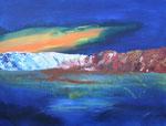 Küste im Licht, Acryl auf Keilrahmen, 60x80 cm, Kursarbeit Bernd Klimmer 150 Euro