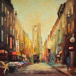 Chinatown Manhattan, Aquacrylic 80x80 cm 350 Euro