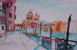 Venedig, aquarellisierte Skizze Kohle und Bleistift, 31x45 cm 60 Euro