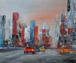 der Verkehr rollt, Acryl auf Keilrahmen, 50x60 cm, Kursarbeit B. Klimmer, 160 Euro