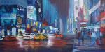 Abendstimmung in der Stadt, Acryl-Collage auf Keilrahmen, 50x100 cm, 320 Euro