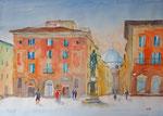 Florenz Piazza SS Annunziata, 50x70 cm, 170 Euro ohne Rahmen