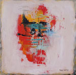 Summertime I, Acryl auf Keilrahmen, 30x30 Dreierset kompl. 150 Euro