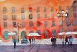 Plaza major, Palma de Mallorca, 36x51 cm, 150 Euro ungerahmt plein air gemalt