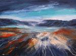 Vulkanlandschaft, Acryl auf Keilrahmen, 60x80 cm 190Euro