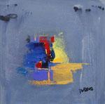 Sommernacht III, informell, Acryl auf Keilrahmen, 30x30 cm , Kursarbeit B. KLimmer