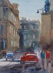Havanna cars, Aquarell, 32x42 cm, vergeben