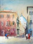 Florenz Piazza SS Annunziata, 42x58 cm, 210 Euro ohne Rahmen
