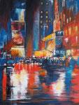 Lichter der Großstadt, Acryl auf Keilrahmen 60x80 cm ,vergeben