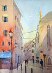 Straßenszene Palma de Mallorca, 30x40 cm 125 Euro ungerahmt plein air gemalt