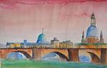 Blick auf Dresden 36x56 cm, 150 Euro ohne Rahmen