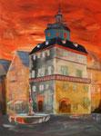 Rathaus Herborn, Acryl auf Keilrahmen, 60 x 80, vergeben
