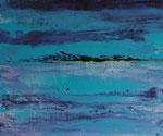 Land in Sicht , Acryl auf Keilrahmen, 50x60 cm, 150 Euro