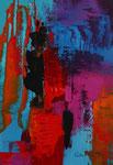 3-er Serie Faszination der Farben, III, Acryl auf Keilrahmen, 21x30 cm, gerahmt, Kursarbeit B. Klimmer 95 Euro