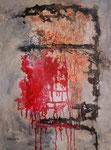 Morgenrot, Mischtechnik auf Keilrahmen, 60x80 cm  130 Euro