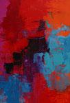 3-er Serie Faszination der Farben,I, Acryl auf Holzplatte 21x 30cm, gerahmt 30x40, Kursarbeit B. Klimmer, 95 Euro