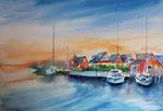 Hafen von Ahrenshoop , 36x51 cm, 180 Euro ohne Rahmen