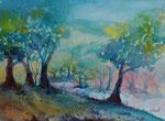 Waldfantasien, 30x40 cm, Kursarbeit B. Klimmer 140 Euro ohne Rahmen