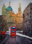 London bus, Aquarell 32x42 cm, 115 Euro ungerahmt