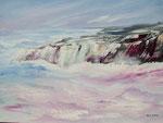 Klippenküste, Acryl auf Keilrahmen 60x80, 160 Euro