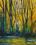 romantischer Wald, Acryl 50x60 cm, Kursarb. VHS Wetzlar, nach e. Motiv von Bernd Zimmer, 135 Euro