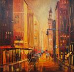 Manhattan, Öl 80x80 cm, vergeben