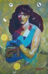 Pandora, Acryl auf Leinwand  35x52  cm, 230 Euro
