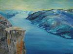 Kanzel am Lysefjord, Acryl auf Keilrahmen, 60x80 cm 190 Euro