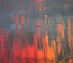 orange, informelle Malerei, Acryl auf Keilrahmen, 50x60 cm 110 Euro