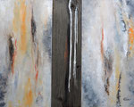 Organic II, Tryptichon Mischtechnik Acryl auf Keilr. je 30x60 cm und Altholz 240 Euro