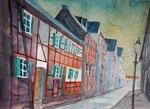 Dorf im Ahrtal, 56x76 cm, 220 Euro ohne Rahmen, Kursarbeit Andreas Mattern