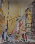 rainy day in New York 40x50 cm 220 Euro ohne Rahmen