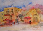 Impresseion Kos-Stadt, Aquarell 30x45 cm EW