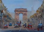 Verkehr auf der Champs Elyssee, 31x41 cm, 160 Euro