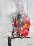 Farbenexplosion, Acryl und Airbrush auf Keilrahmen, 60x80, Kursarbeit B. Klimmer 160 Euro