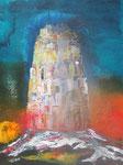 Babel 20.12, Acryl auf Keilrahmen, 80 x 60, vergeben 120 Euro