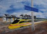 Husch vorbei, Acryl auf Keilrahmen, 60x80 cm, 160 Euro