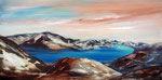 Stille, Acryl 50x100 cm auf Keilrahmen, 250 Euro